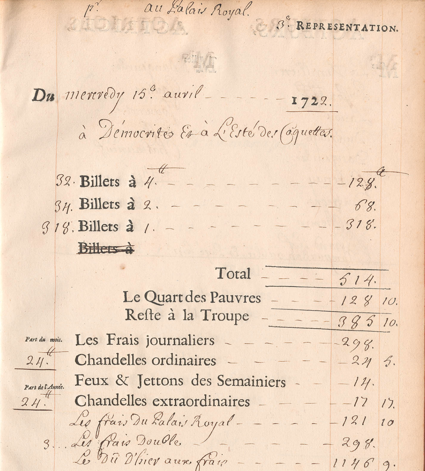The Comédie-Française Registers Project